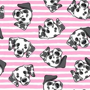 Dalmatians - bubble gum pink stripes - LAD19