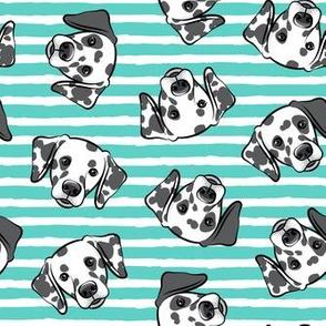Dalmatians - teal stripes - LAD19