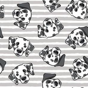 Dalmatians - grey stripes - LAD19