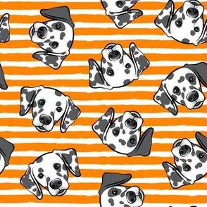 Dalmatians - orange stripes - LAD19