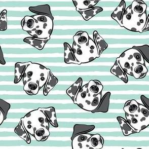 Dalmatians - aqua stripes  - LAD19