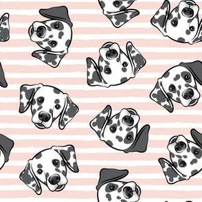 Dalmatians - light pink stripes - LAD19