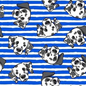 Dalmatians - blue stripes - LAD19