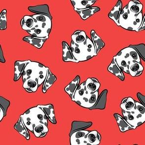 Dalmatians - red - LAD19