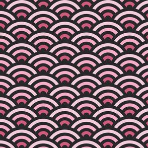 Pink Gradient Seigaiha