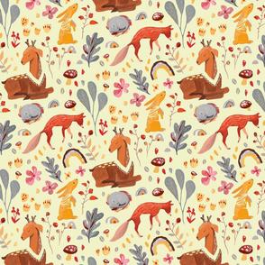 Forest animals - cream