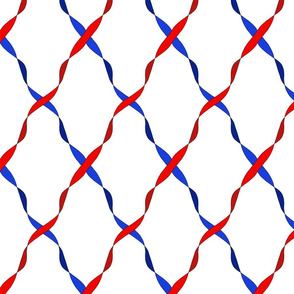 Red white and blue ribbon trellis