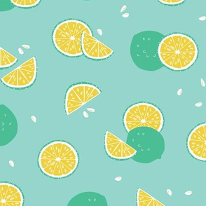 Green lime citrus fruit pattern