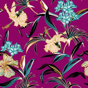 Verity Floral - Purple