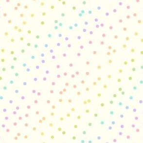 Pastel Rainbow Confetti on Cream
