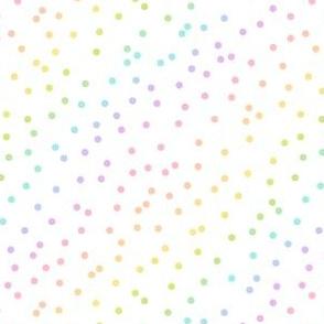 Pastel Rainbow Confetti on White