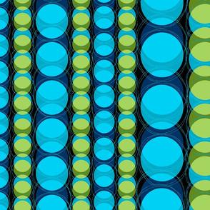 Headlights Retro Polka Dot Stripes - Turquoise