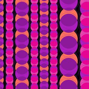 Headlights Retro Polka Dot Stripes - Violet