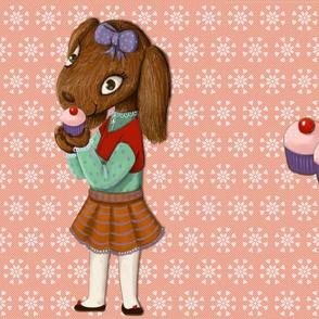 Lana and cupcake