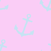 Simple pink blue Anchors 2