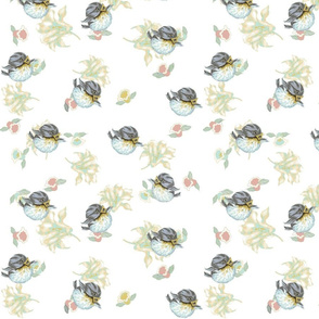 Vintage bird 4-ed-ch