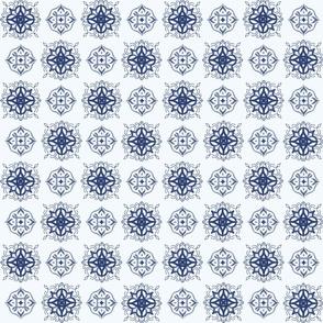 Indigo Tie-dye Shibori #1-Blue