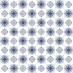 Indigo Tie-dye Shibori 1-white