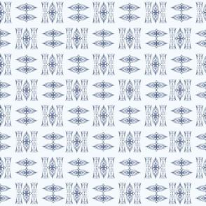 Indigo Tie-dye Shibori #3-Blue