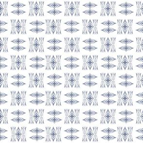 Indigo Tie-dye Shibori #3-white