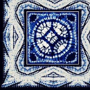 Shibori Tie Dyed Quilt Square