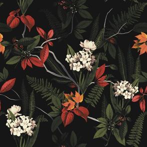 Forest Floral - Black