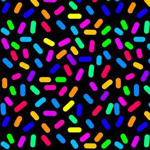 Rainbow Ticker Tape - black