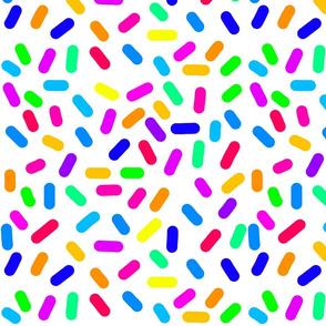 Rainbow Ticker Tape - white