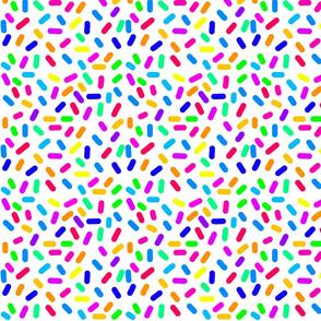 Rainbow Ticker Tape - white, half size