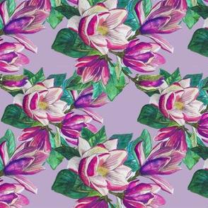 Pastel purple magnolia flower