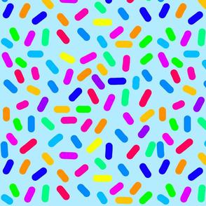 Rainbow Ticker Tape- aqua
