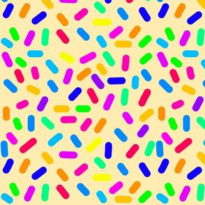 Rainbow Ticker Tape - sandy beige