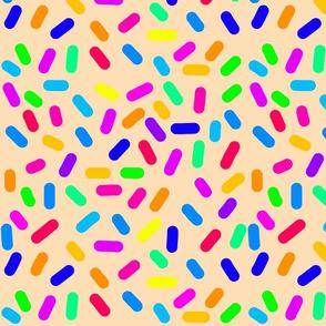 Rainbow Ticker Tape - coral beige