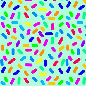 Rainbow Ticker Tape - mint green