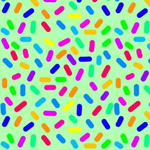 Rainbow Ticker Tape - green