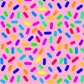 Rainbow Ticker Tape - coral rose