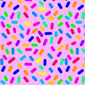 Rainbow Ticker Tape - violet pink