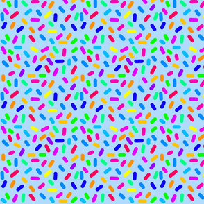 Rainbow Ticker Tape - blue (half size)