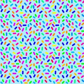 Rainbow Ticker Tape- aqua (half size)