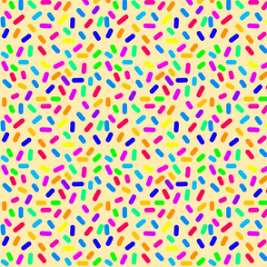 Rainbow Ticker Tape - sandy beige (half size)