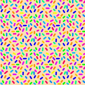 Rainbow Ticker Tape - coral beige (half size)