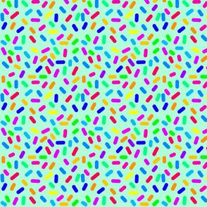Rainbow Ticker Tape - mint green (half size)