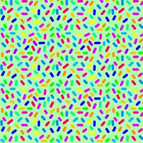 Rainbow Ticker Tape - green (half size)