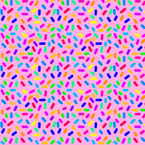 Rainbow Ticker Tape - pink (half size)