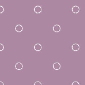 Stargate Polka Dots - Dusty Purple