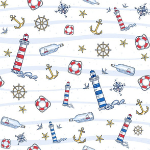 Red White And Blue Nautical