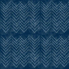 Shibori Chevron Royal