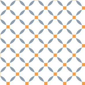 basic curved lattice blue orange
