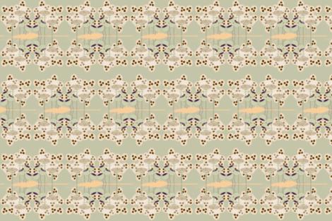 seedy oat and pod-sm-green floor mat fabric by kae50 on Spoonflower - custom fabric