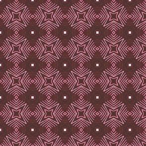Circle Star Burst, Burgundy